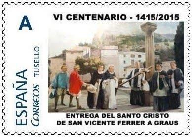 SELLOS 6º CENTENARIO ENTREGA SANTO CRISTO