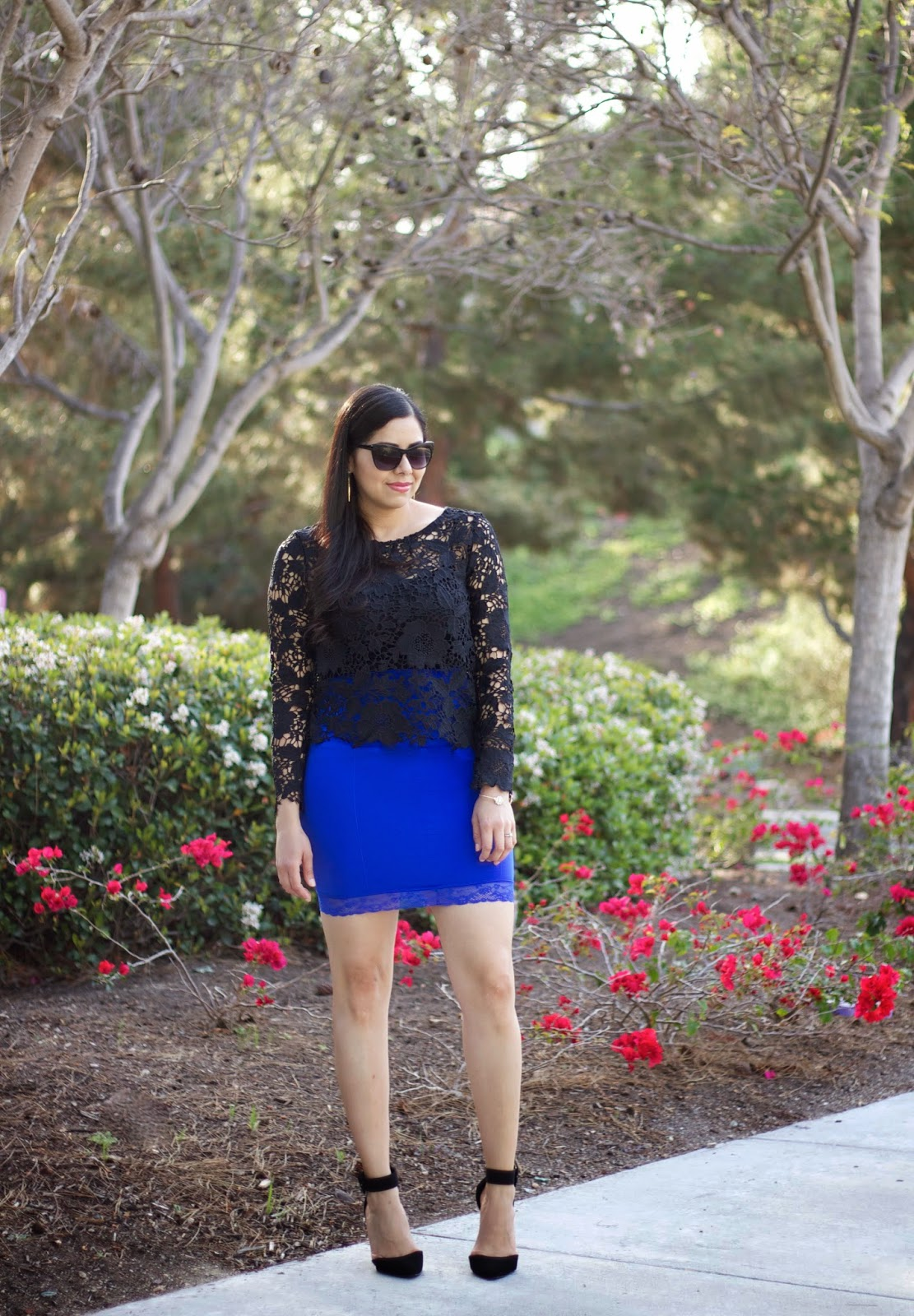 how to wear shapewear as outerwear, jewel toned shapewear, how to wear black lace, girls night out outfit