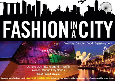 Noel Caleb, Fashion in a City, Avalon, Marina Bay Sands, fashion Show, 29 June, Singapore