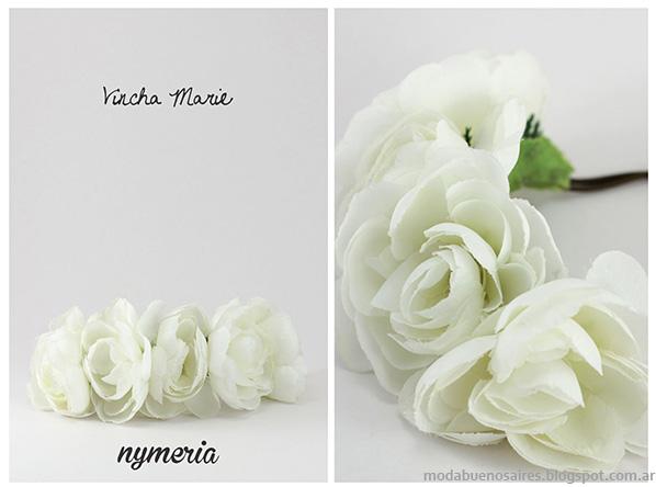 Vinchas con flores 2014. Accesorios de Moda 2014. Nymeria verano 2014.
