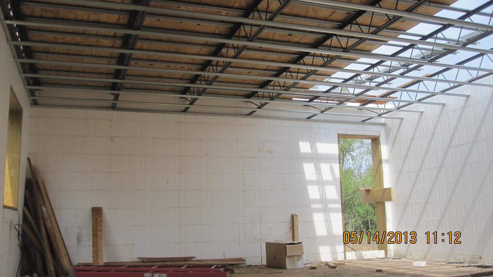 Energy efficient building network first floor structure for Icf floor