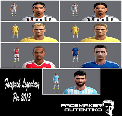 PES 2013 Facepack Legendary By Autentiko