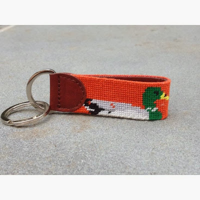 Tucker Blair Needle Point Key Fob Preppy