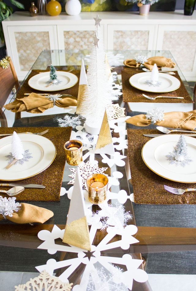 Winter Wonderland Christmas Table Setting | Design Improvised