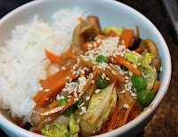 Stir-Fry de Vegetais e Eryngui (vegana)
