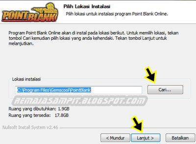 point blank di laptop remaja sampit cara install game point blank ...