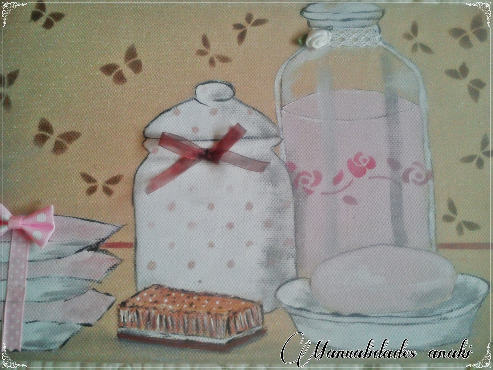 Deco anaki vintage cuadro para ba o en rosa - Cuadros para el bano modernos ...