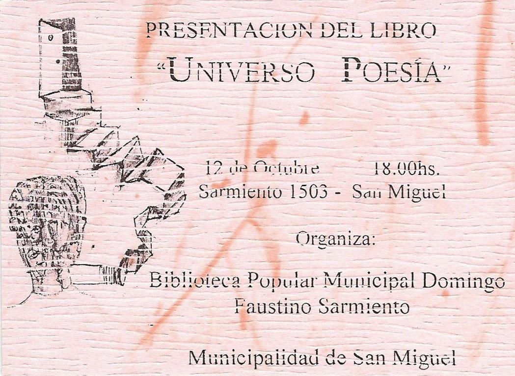 """Presentación del libro """"Universo Poesía"""""""