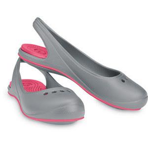 sandal crocs cewek abu abu