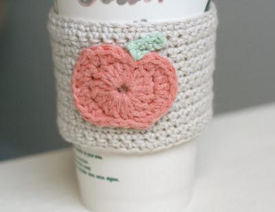 free crochet pattern pumpkin coffee cup cozy