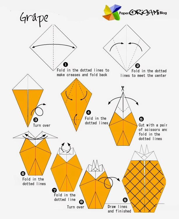 pin 3d origami pineapple tutorial on pinterest