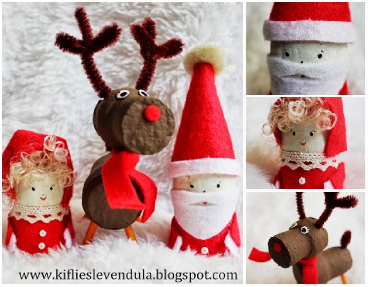 giocabosco: creare con gnomi e fate: personaggi natalizi con tappi