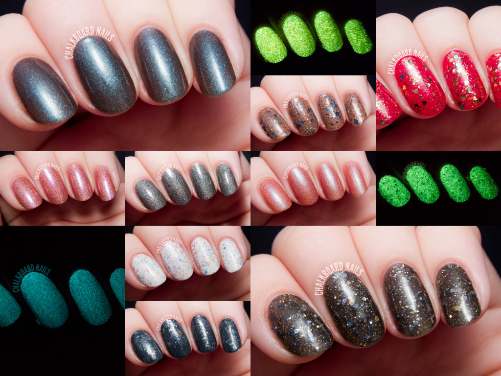 Serum No. 5 Fall 2014 Swatches and Review | Chalkboard Nails | Nail ...