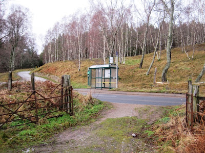 The 201 bus-stop for those who don't want to walk back to Ballater