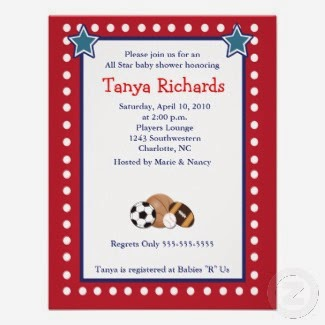 sports picture best sports baby shower invitations seasonal showers