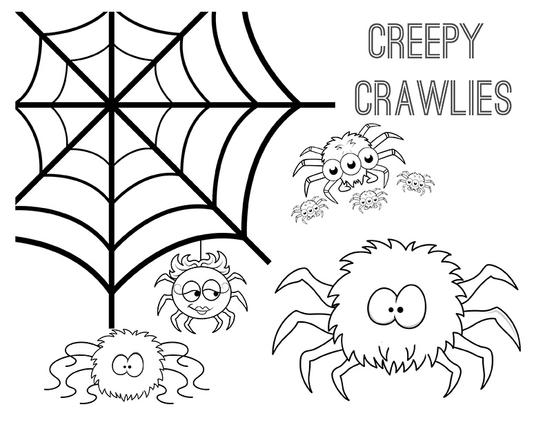 creepy spiders coloring pages - photo#26