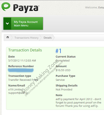 Adf.ly Payment Proof #1