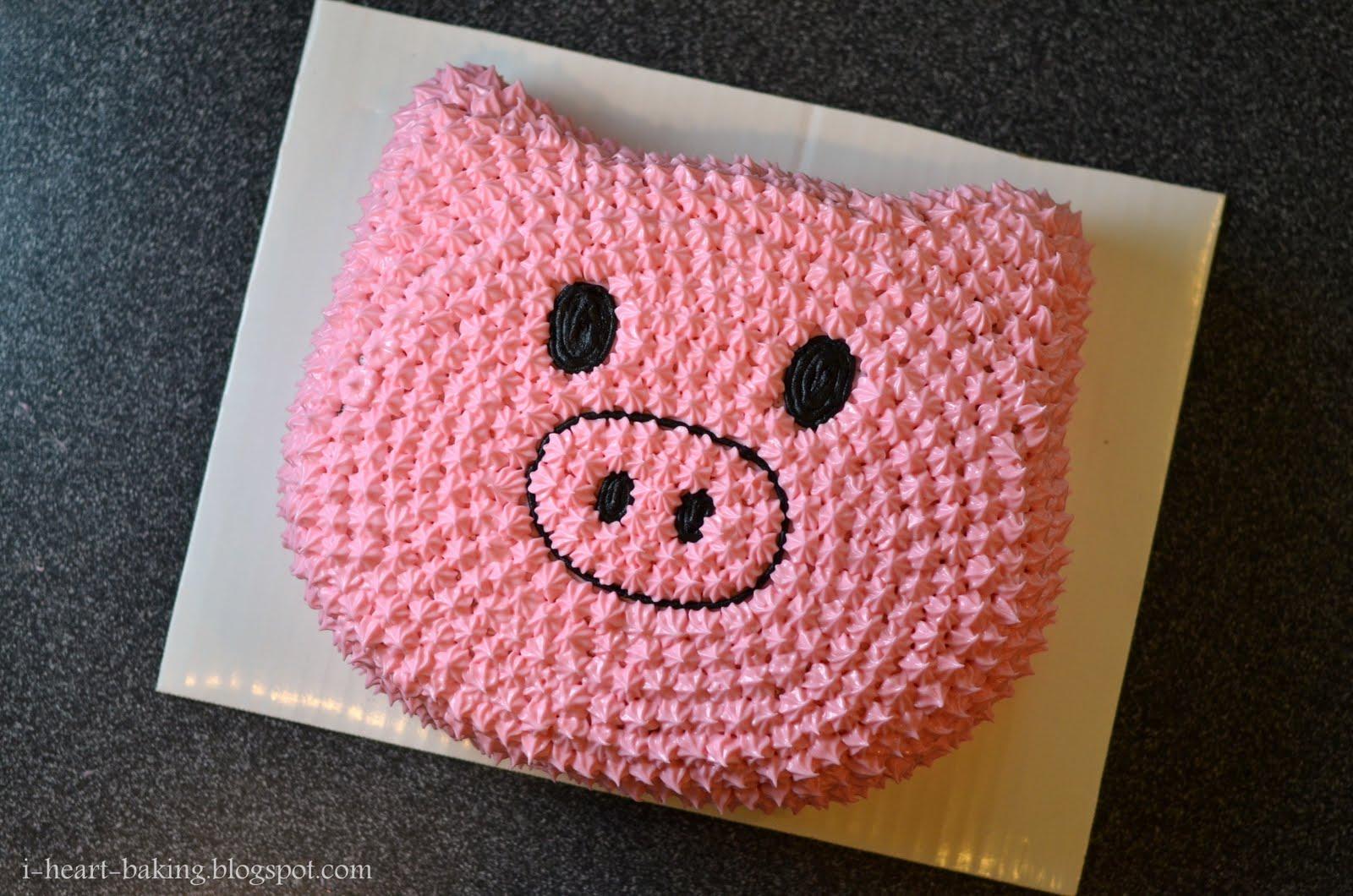i heart baking piggy cake