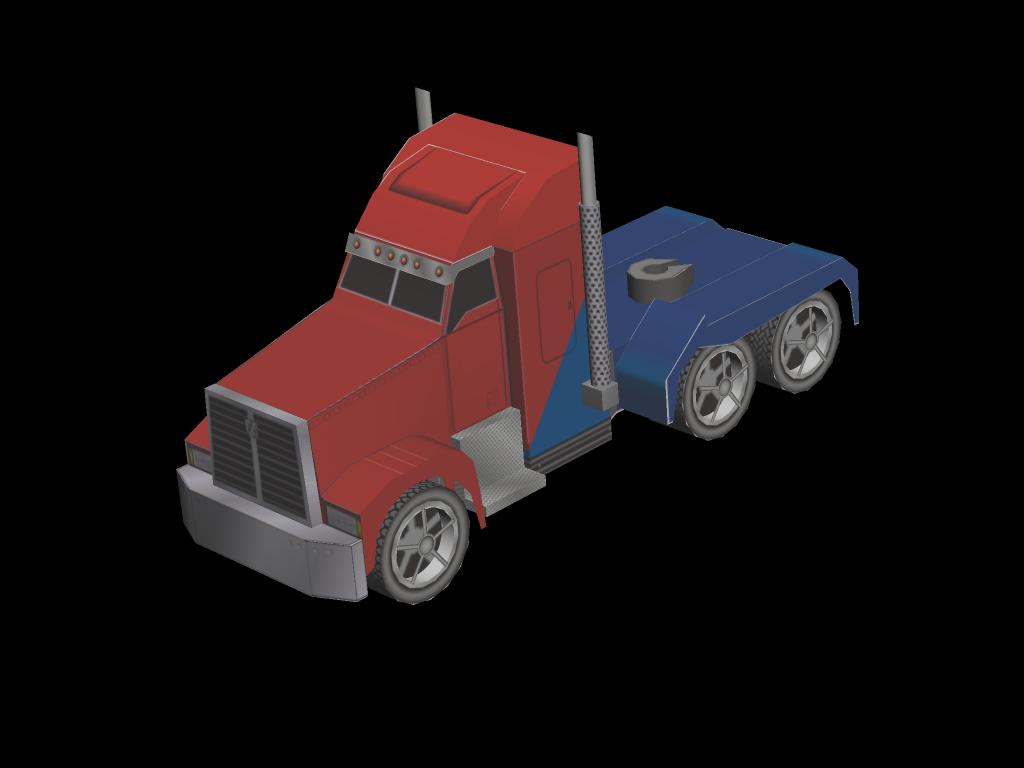 Optimus Prime Truck Paper Toy