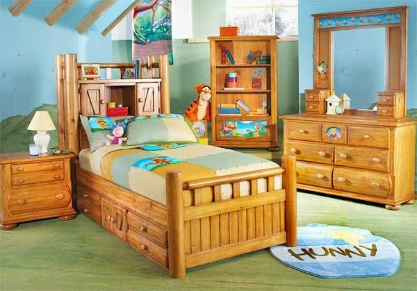 صورة نوم غرف اطفال باللون السماوى