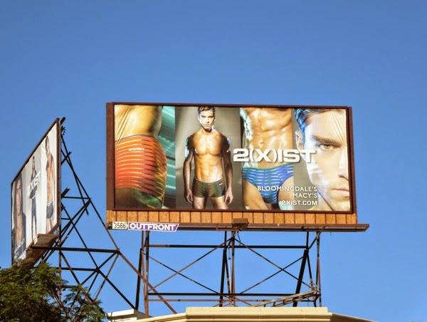 2Xist print underwear billboard