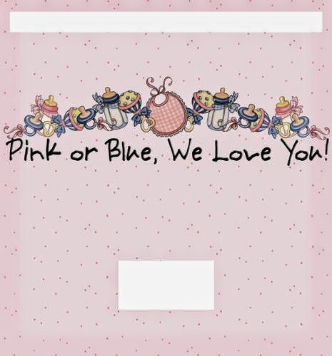 Pink or Blue: Free Printable Chocolate Wrapper.