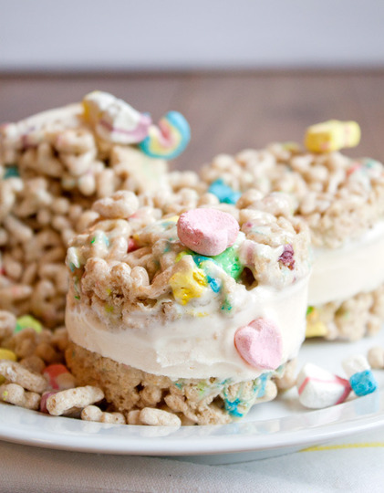 Lucky Charms® Cereal Ice Cream Sandwiches!!