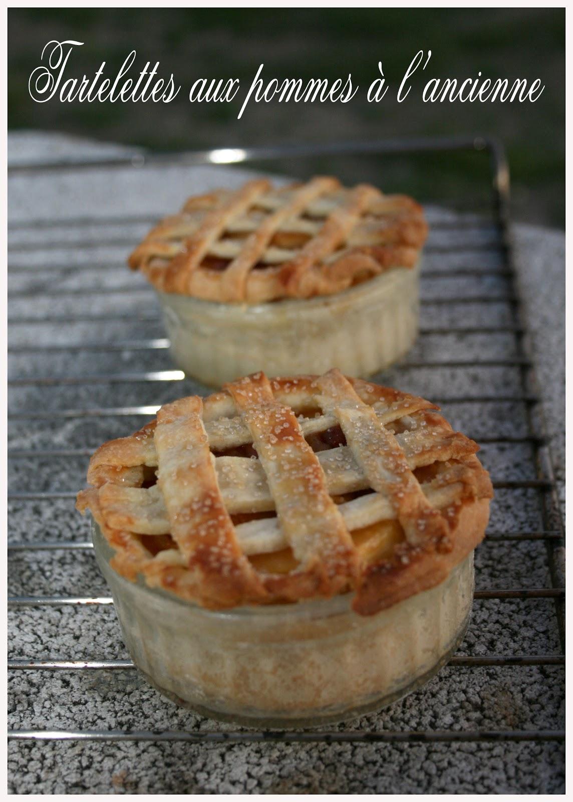 Tartelettes aux pommes l 39 ancienne croquez craquez - Tarte aux pommes compote maison ...