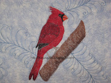 My Thread Painted Cardinal