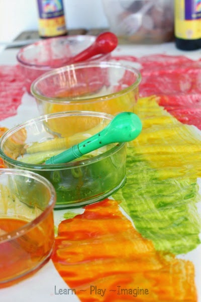 Making tempera paint - Kids will love making their own paint