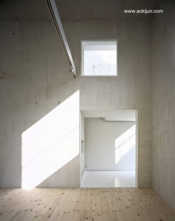 Open plan en el nivel inferior de la casa minimalista
