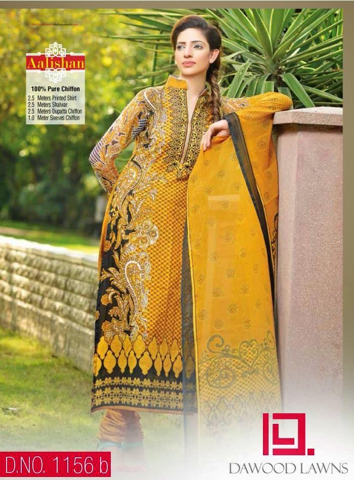 Aalishan chiffon lawn 2014 vol 4 by dawood textiles the for Bano market faisalabad dresses