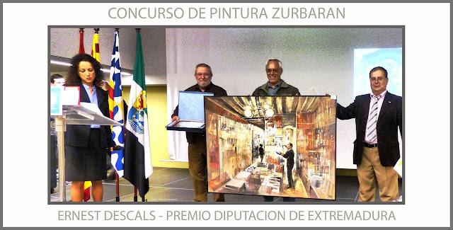 CONCURSO-PINTURA-ZURBARA-PREMIOS-DIPUTACION-EXTREMADURA-BADALONA-HOGAR EXTREMEÑO-PINTOR-ERNEST DESCALS-