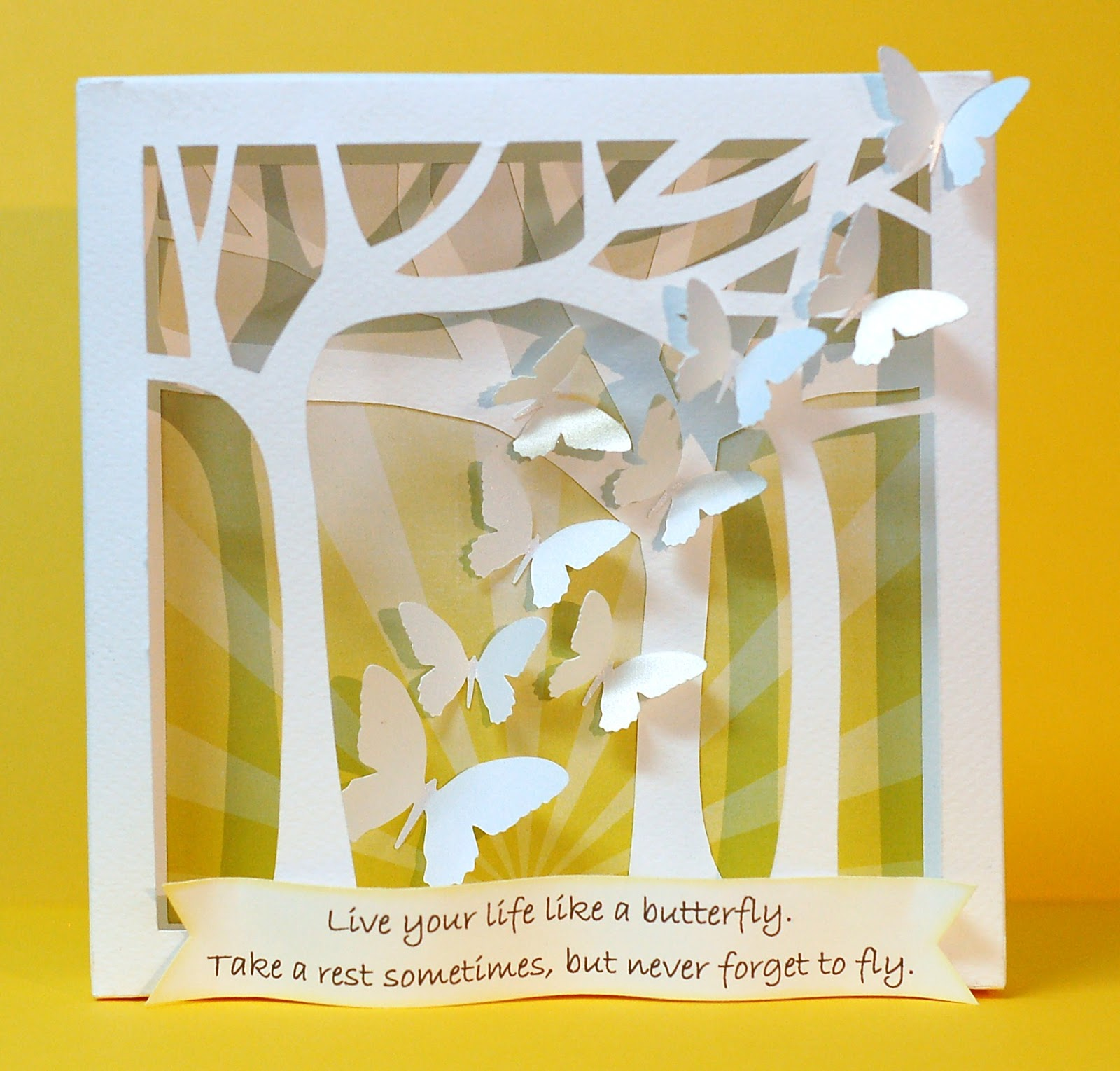 Paper Creations by Kristin: Butterfly wall art