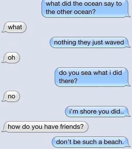 Funny Ocean Punology Joke Puns
