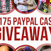 $175 Paypal Cash Giveaway