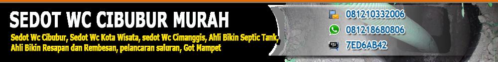 SEDOT WC CIBUBUR | AHLI SEPTIC TANK | 0812 1033 2006