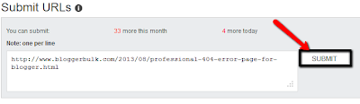 Add new blog post url in bing webmaster tools