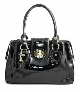 Juno Porto Alegra Patent Shoulder Bag, £69