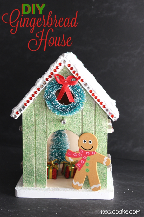 Diy christmascraft to make a cute wood gingerbreadhouse from