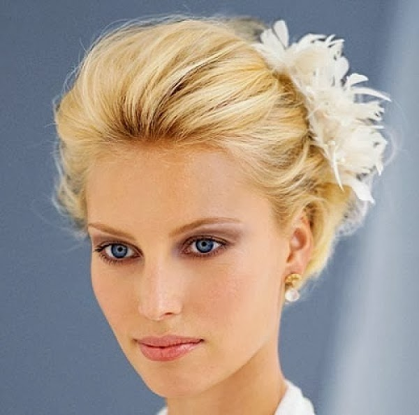 Simple hairstyles for short hair wedding Hair and Tattoos