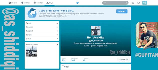 Cara Mengaktifkan Tampilan Baru Profile Twitter 2014 1