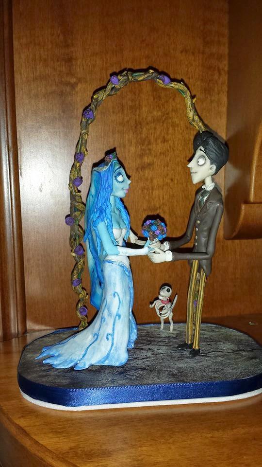 Cake topper la sposa cadavere Cake+topper+artigianale+pasta+di+mais+sposa+cadavere