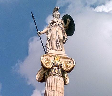 Αθηνά Παλλάδα. Athena-academy-of-athens-statue