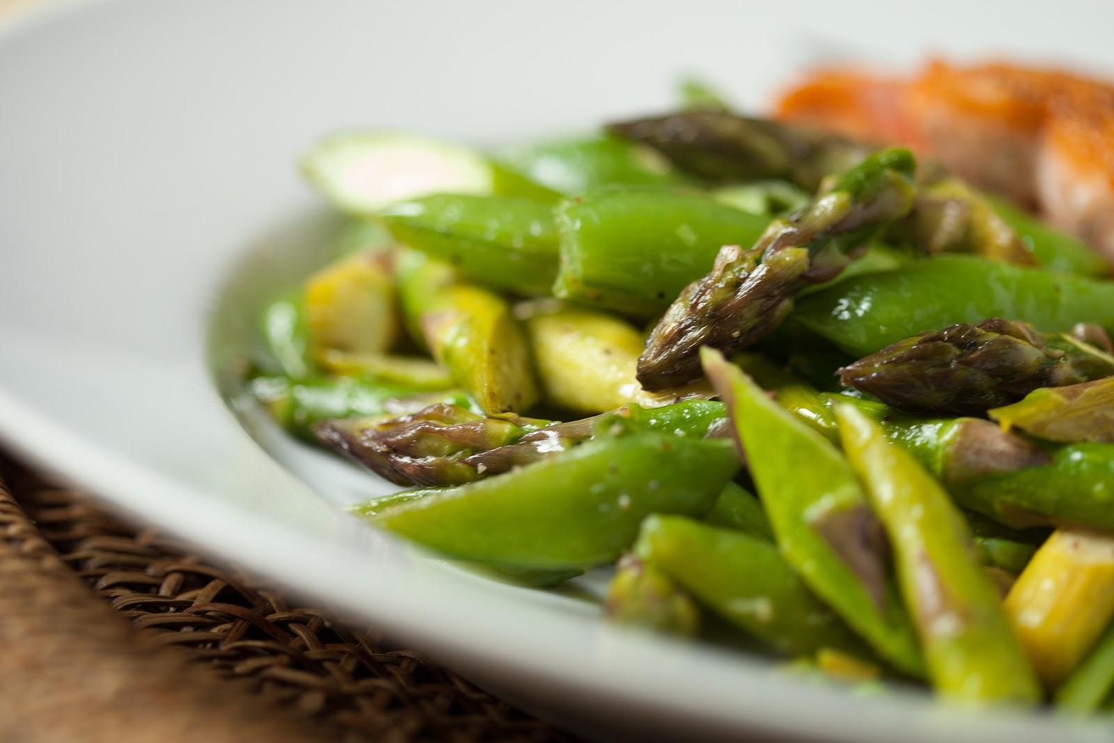 savory nest: Sweet Asparagus & Sugar Snap Pea Sauté {and a little ...