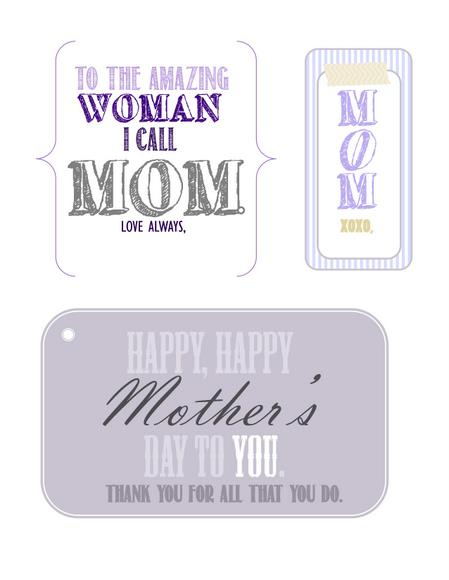 Download these beautiful Mother's Day tags for your mom from our free printables.