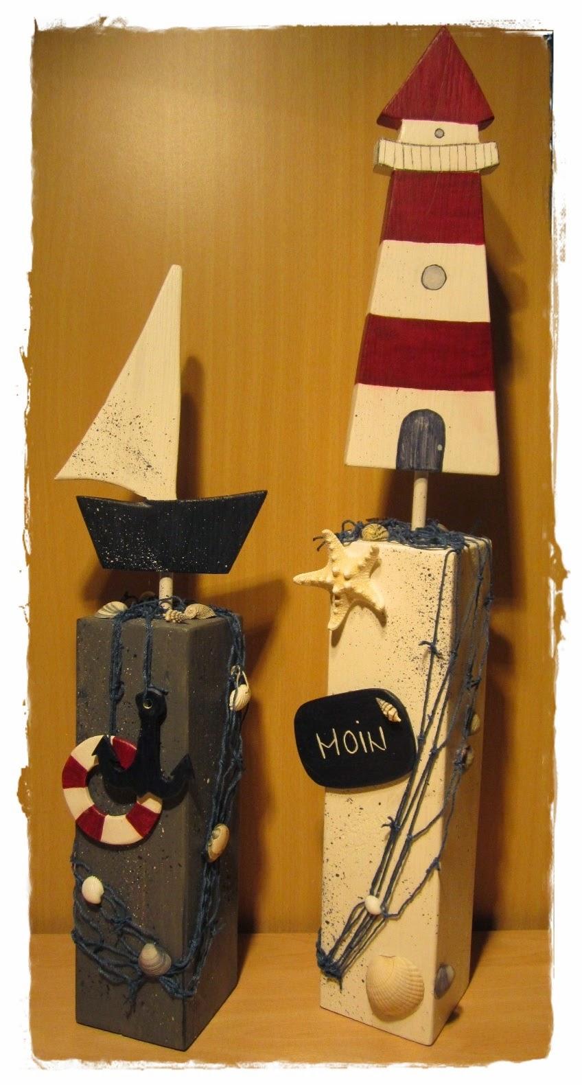 Holzpfosten Deko brittas kreativstübchen maritime holzpfosten ii