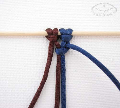 Podwójny węzeł łańcuszkowy wykonywany na 4 sznurkach - 3