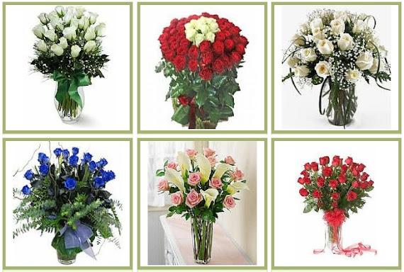 aranjman çiçekler kırmızı beyaz mavi