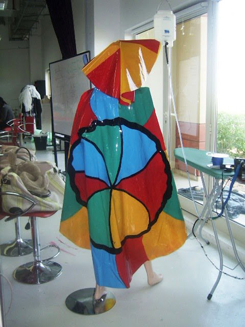 "Niki de Saint Phalle - ""Nanas"" inspired clothes back view"